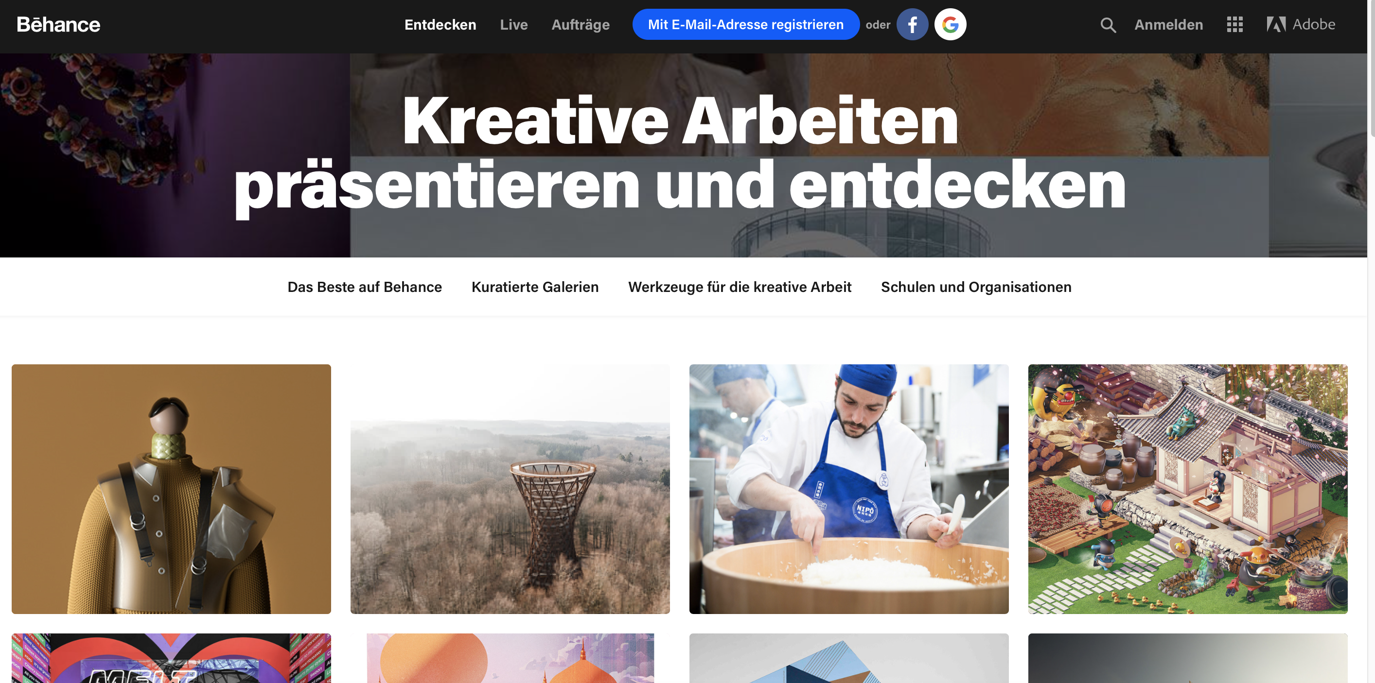 Inspiration bei Behance
